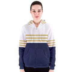 Dress Up Blue And Gold Women s Zipper Hoodie