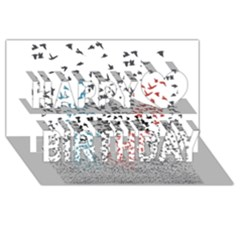 Twenty One Pilots Birds Happy Birthday 3D Greeting Card (8x4)