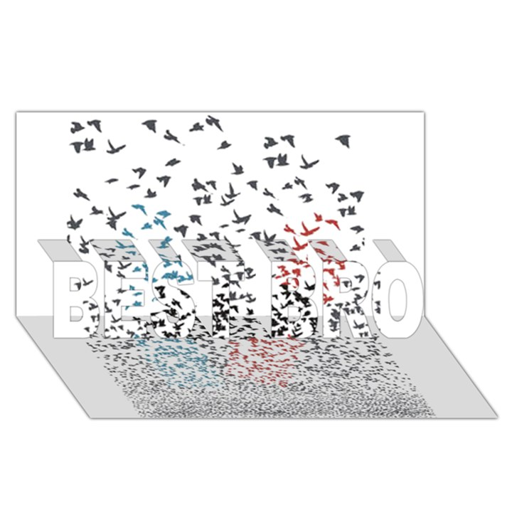 Twenty One Pilots Birds BEST BRO 3D Greeting Card (8x4)