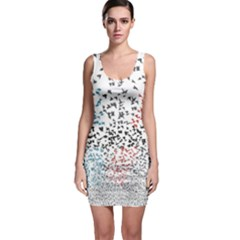 Twenty One Pilots Birds Sleeveless Bodycon Dress