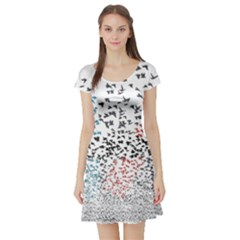 Twenty One Pilots Birds Short Sleeve Skater Dress