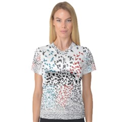 Twenty One Pilots Birds Women s V Neck Sport Mesh Tee