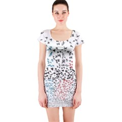 Twenty One Pilots Birds Short Sleeve Bodycon Dress