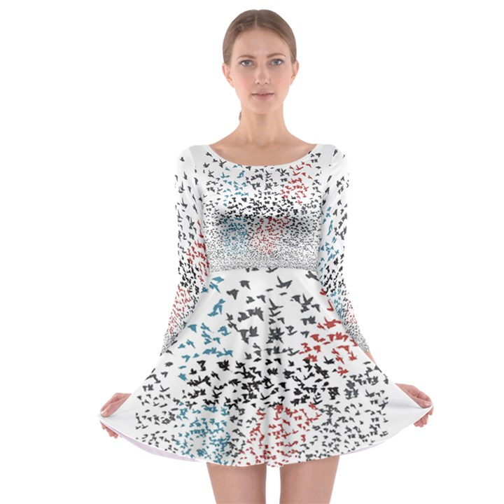 Twenty One Pilots Birds Long Sleeve Skater Dress