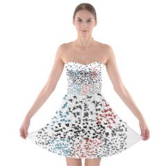 Twenty One Pilots Birds Strapless Bra Top Dress