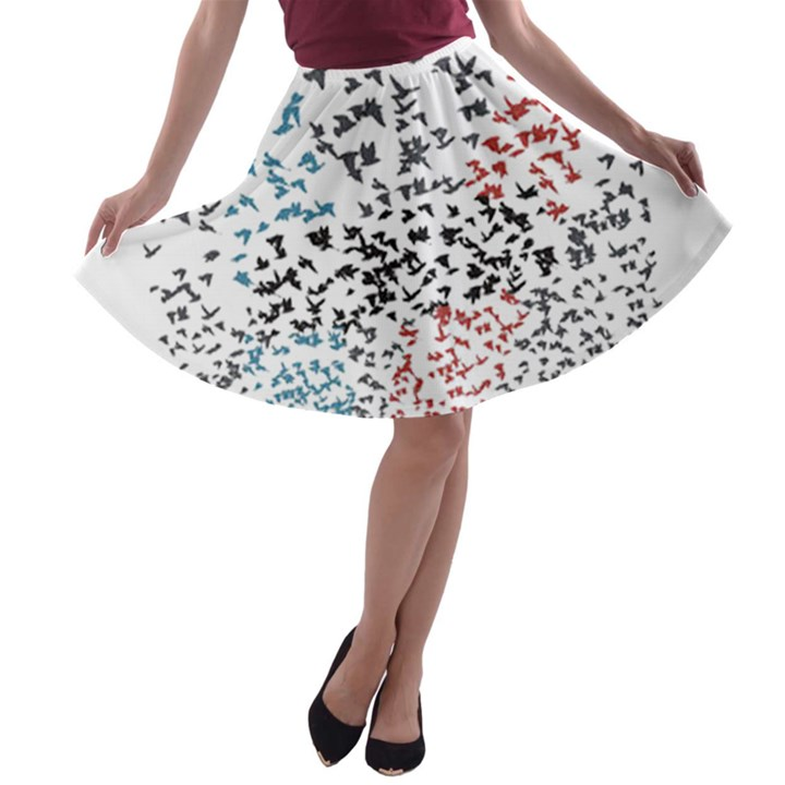 Twenty One Pilots Birds A-line Skater Skirt