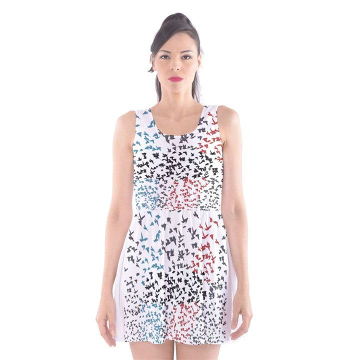 Twenty One Pilots Birds Scoop Neck Skater Dress