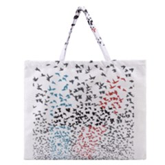 Twenty One Pilots Birds Zipper Large Tote Bag