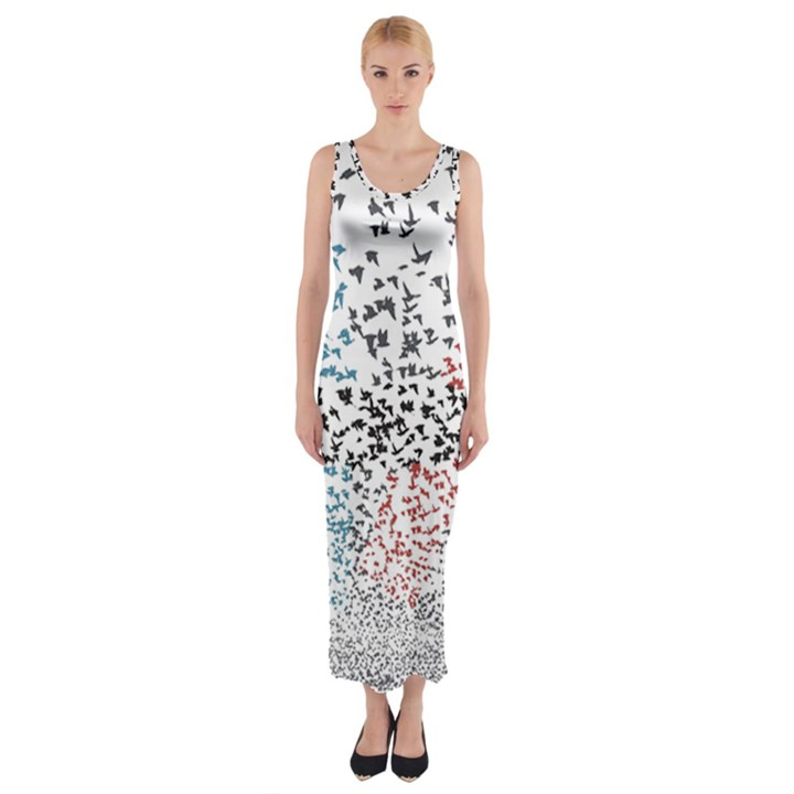 Twenty One Pilots Birds Fitted Maxi Dress