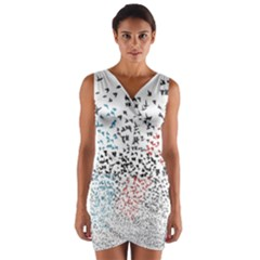 Twenty One Pilots Birds Wrap Front Bodycon Dress