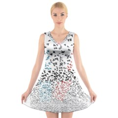 Twenty One Pilots Birds V Neck Sleeveless Skater Dress
