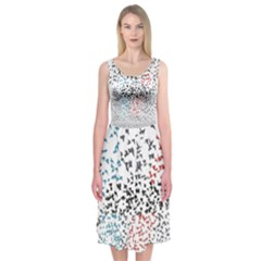 Twenty One Pilots Birds Midi Sleeveless Dress