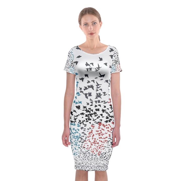 Twenty One Pilots Birds Classic Short Sleeve Midi Dress