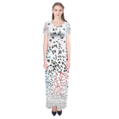 Twenty One Pilots Birds Short Sleeve Maxi Dress