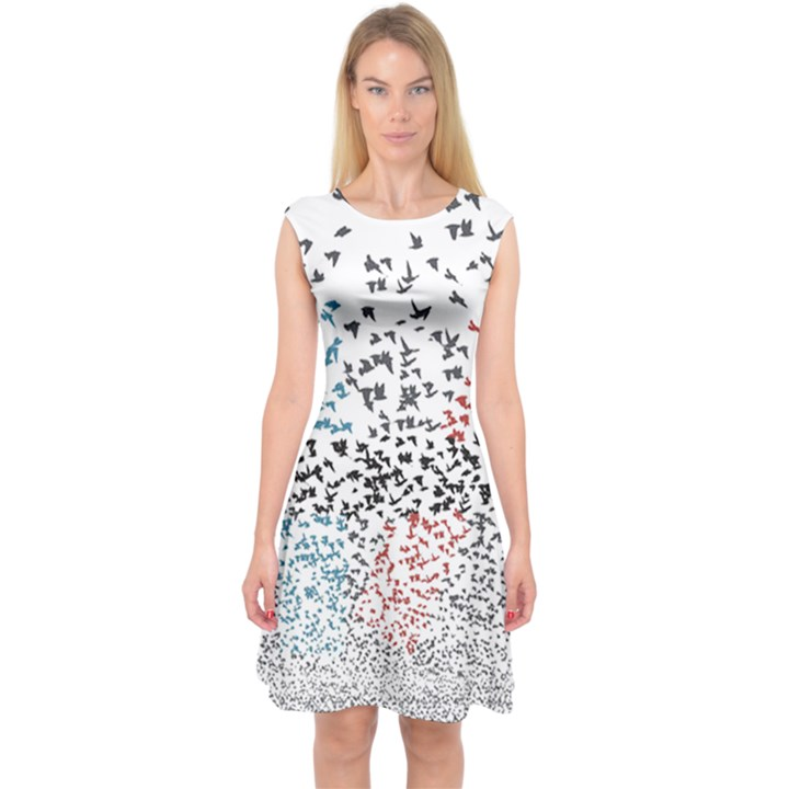 Twenty One Pilots Birds Capsleeve Midi Dress