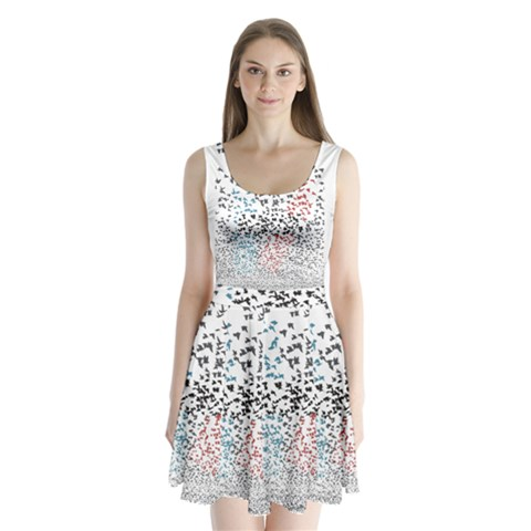 Twenty One Pilots Birds Split Back Mini Dress