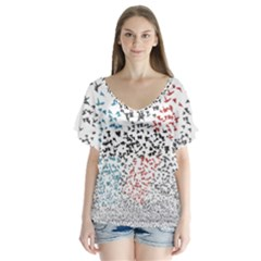 Twenty One Pilots Birds Flutter Sleeve Top