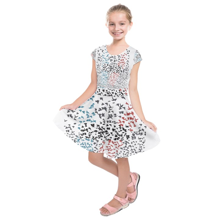 Twenty One Pilots Birds Kids  Short Sleeve Dress