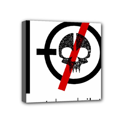 Twenty One Pilots Skull Mini Canvas 4  x 4