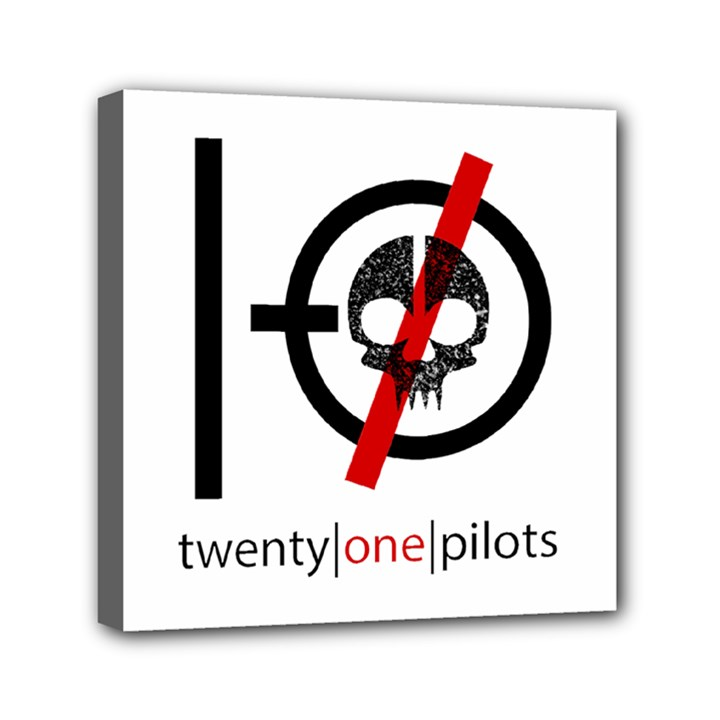 Twenty One Pilots Skull Mini Canvas 6  x 6
