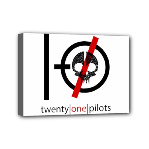 Twenty One Pilots Skull Mini Canvas 7  x 5