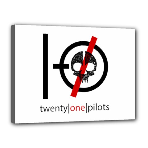 Twenty One Pilots Skull Canvas 16  X 12