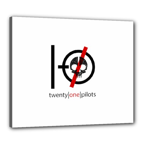 Twenty One Pilots Skull Canvas 24  X 20