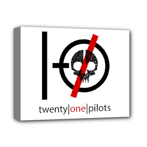 Twenty One Pilots Skull Deluxe Canvas 14  x 11