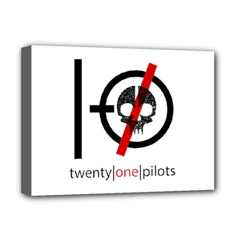 Twenty One Pilots Skull Deluxe Canvas 16  X 12