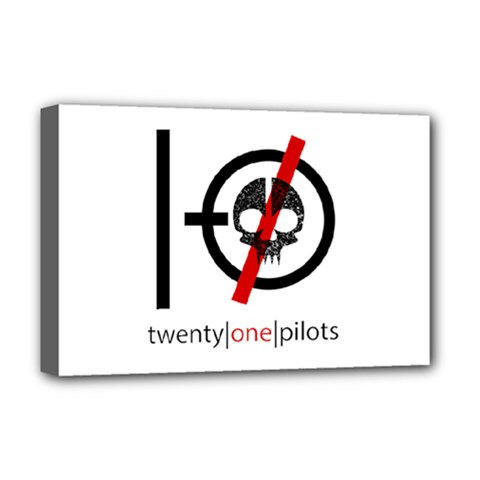 Twenty One Pilots Skull Deluxe Canvas 18  x 12