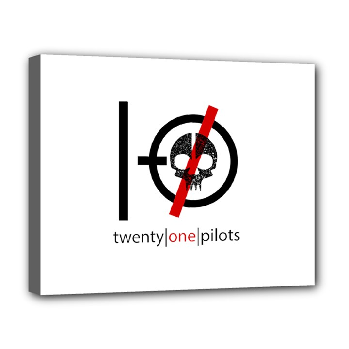 Twenty One Pilots Skull Deluxe Canvas 20  x 16