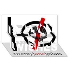Twenty One Pilots Skull Best Wish 3D Greeting Card (8x4)