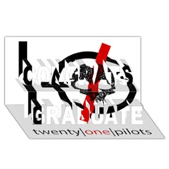 Twenty One Pilots Skull Congrats Graduate 3d Greeting Card (8x4)