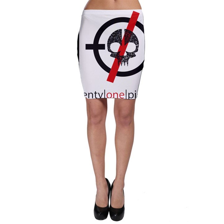 Twenty One Pilots Skull Bodycon Skirt