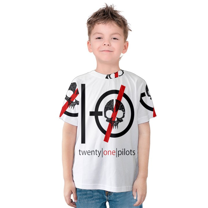 Twenty One Pilots Skull Kids  Cotton Tee