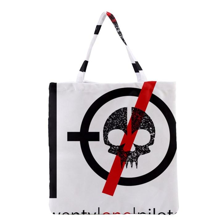 Twenty One Pilots Skull Grocery Tote Bag