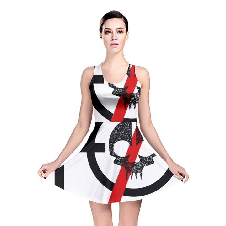 Twenty One Pilots Skull Reversible Skater Dress