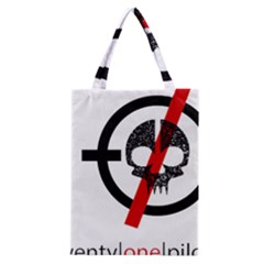 Twenty One Pilots Skull Classic Tote Bag