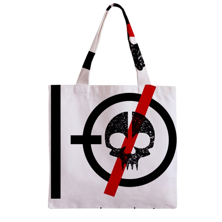 Twenty One Pilots Skull Zipper Grocery Tote Bag