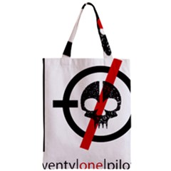Twenty One Pilots Skull Zipper Classic Tote Bag