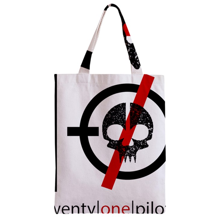 Twenty One Pilots Skull Zipper Classic Tote Bag