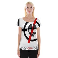 Twenty One Pilots Skull Women s Cap Sleeve Top
