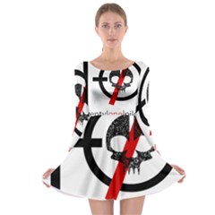 Twenty One Pilots Skull Long Sleeve Skater Dress