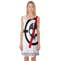 Twenty One Pilots Skull Sleeveless Satin Nightdress