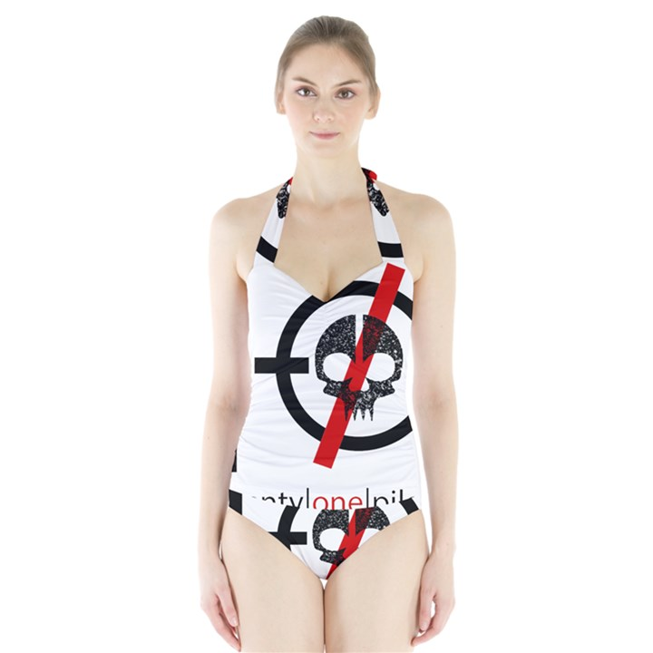 Twenty One Pilots Skull Halter Swimsuit