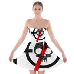 Twenty One Pilots Skull Strapless Bra Top Dress