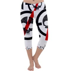 Twenty One Pilots Skull Capri Yoga Leggings