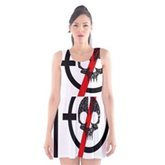 Twenty One Pilots Skull Scoop Neck Skater Dress
