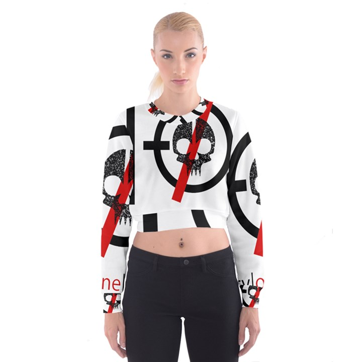 Twenty One Pilots Skull Women s Cropped Sweatshirt