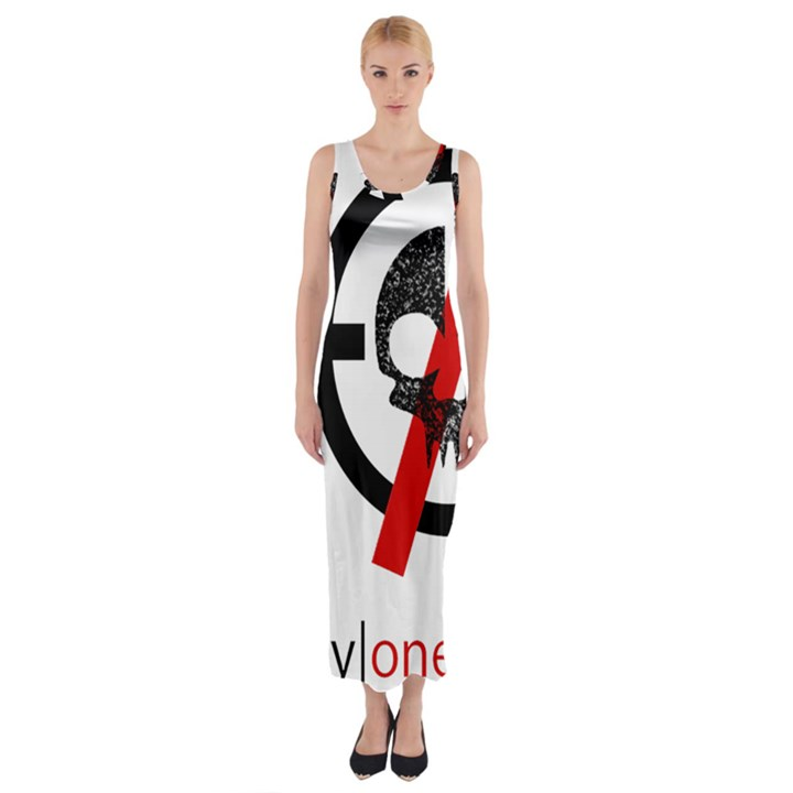 Twenty One Pilots Skull Fitted Maxi Dress
